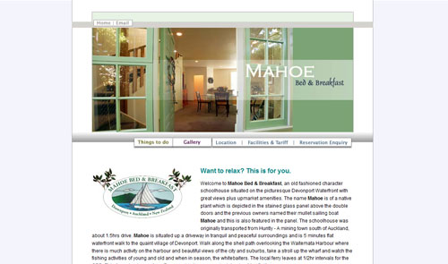 Mahoe bed and breakfast